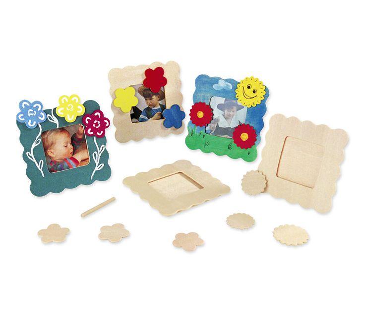 Portafotos de madera con figuras