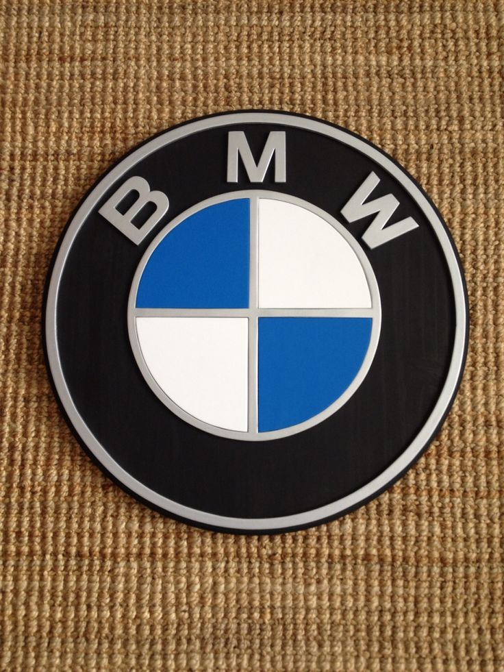 3-D BMW logo. Hand made by kate Hall