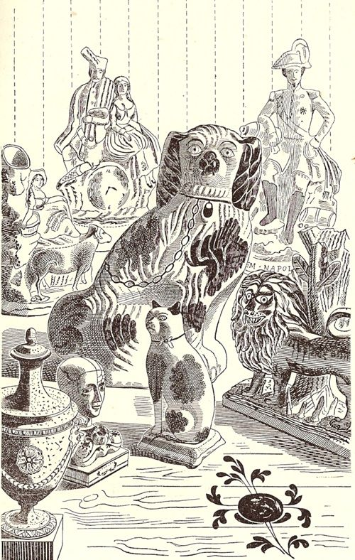 Edward Bawden: Illustration from 'Life in an English Village', published in 1949 by King Penguin. The book contains 16 lithographs by Bawden showing the daily round of village life.