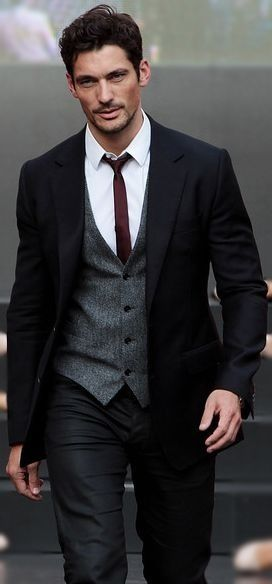 David could wear a gunny sack, and rock it... but this IS a great suit  )