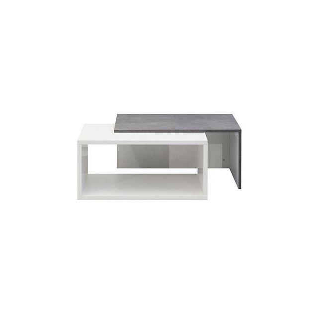 Table Basse Effet Beton Blanche Table Basse