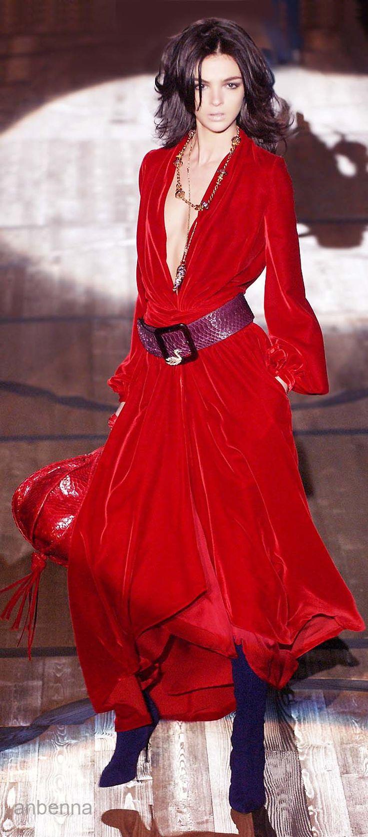 Roberto Cavalli. Red velvet. #AdeaEveryday