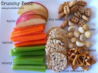 Crunchy foods as a part of a sensory diet! Repinned by SOS Inc. Resources pinterest.com/sostherapy/.