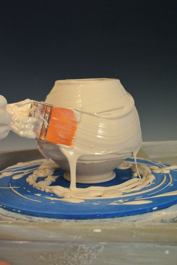 The icing on the pot! Pottery slip decoration that creates texture