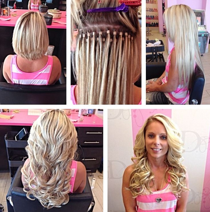 long hair extensions before & after extensions de cheveux longs par madison http://instagram.com/vanityhairbymadisonriley