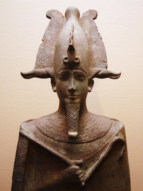 """*EGYPT~""""Ancient Egyptian statue of Osiris, lord of the dead, who was assassinated by his brother Seth and resurrected by his sister and wife, Isis. Currently located at the Louvre, Paris. c.305-30 BC"""""""
