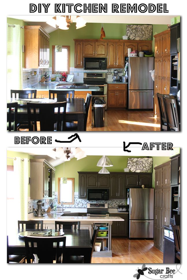 Diy Kitchen Cabinets Before And After diy painted black kitchen cabinets. kitchen diy paint kitchen