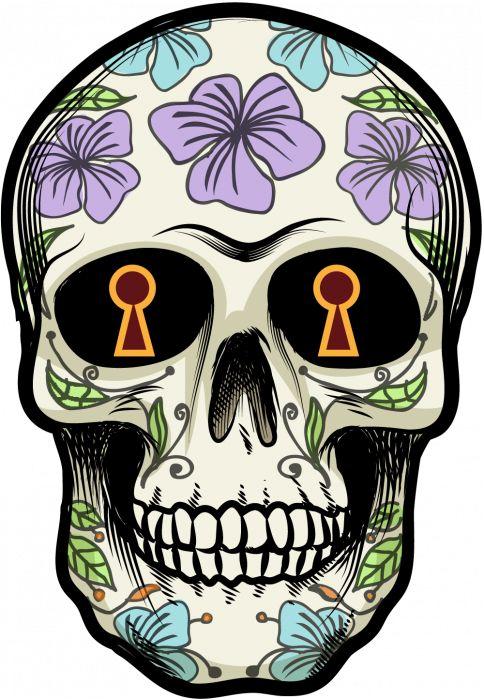 Sticker Calavera - Tete De Mort Mexicaine 15 - ref.d7453 | MPA Déco