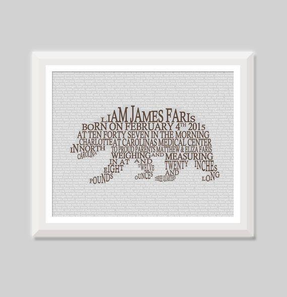 Baby Boy Bear Birth Announcement Wall Art, Woodland Baby Birth Stats Print, Hunting Nursery Decor, Baby Boy Bear, Woodland Animal Nursery