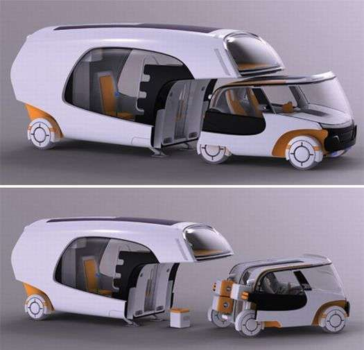 les 25 meilleures id es de la cat gorie caravanes hybrides sur pinterest camping car hybride. Black Bedroom Furniture Sets. Home Design Ideas