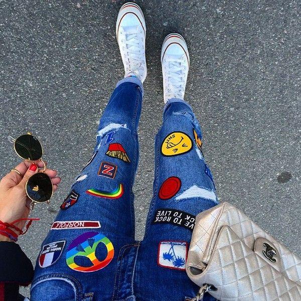 Parches en tu ropa de otoño para vestir como en los 90 ❤ liked on Polyvore featuring accessories