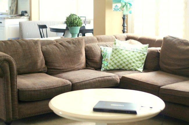 Make A Dropcloth Sofa Sectional Slipcover Sectional Slipcover