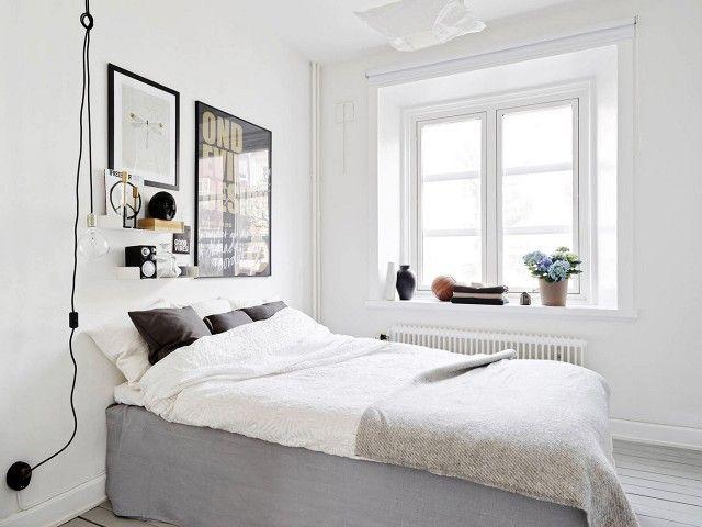 Tour a Glamorously Minimal Stockholm Small Space via @domainehome