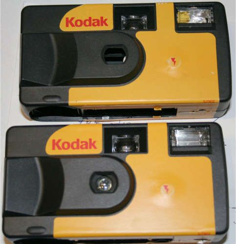 Kids this is a disposable camera...you have to take it to the store to get developed.  This is when we used to actually print our pictures!