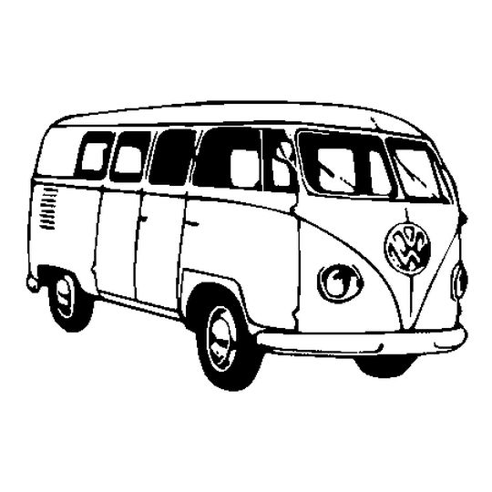 Coloriage Combi VW en Ligne Gratuit à imprimer
