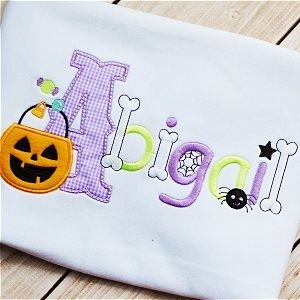 Halloween Embroidery Font - Planet Applique Inc
