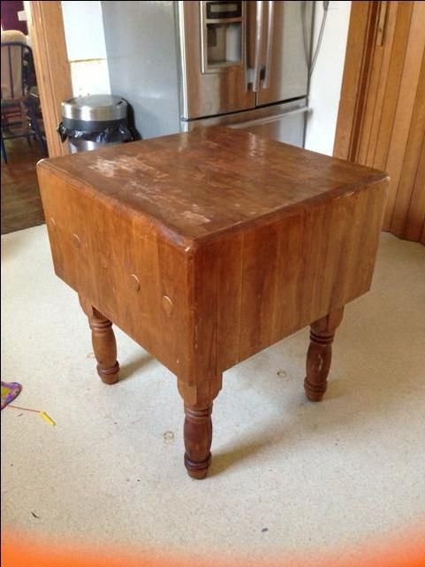 Antique Butcher Block Over 100yrs Old Kitchen Cabinets