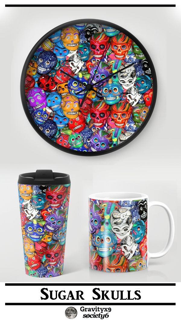 COFFEE TIME! ~ Calaveras Pequeñas - Little Sugar Skulls Coffee Mugs at Society6 by #Gravityx9 Designs -