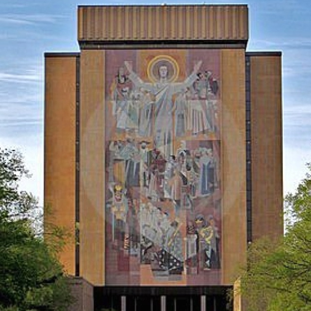 """Touchdown Jesus. Notre Dame football is a way of life. """"Our Father who art in Heaven, let the Irish win by 7!  I was born under the shadow of """"Touchdown Jesus""""!"""