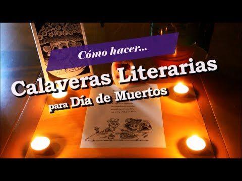 Cómo Hacer una Calavera Literaria en 4 Pasos - Tutorial - Tradición e Identidad. - YouTube