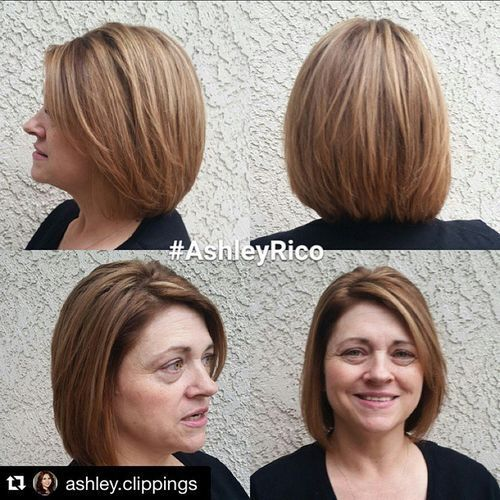 VIDEOS. layered bob haircut for mature women was some hot