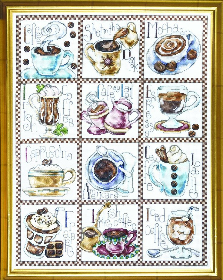 Amazon.com: Counted Cross Stitch, Coffee Break, 12 by 14 inches: Home & Kitchen