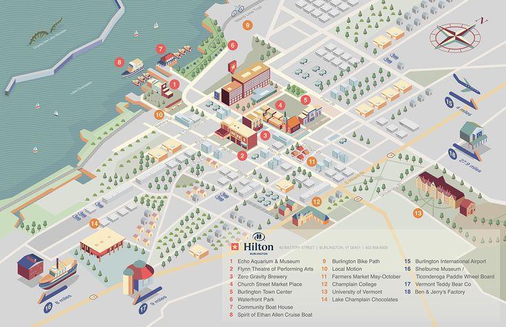 Burlington Hilton Map