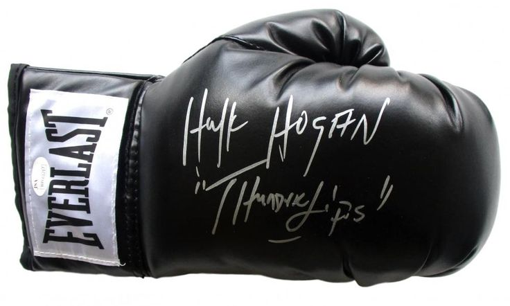 "Hulk Hogan Signed Everlast Boxing Glove Inscribed ""Thunder Lips"" (JSA COA)"