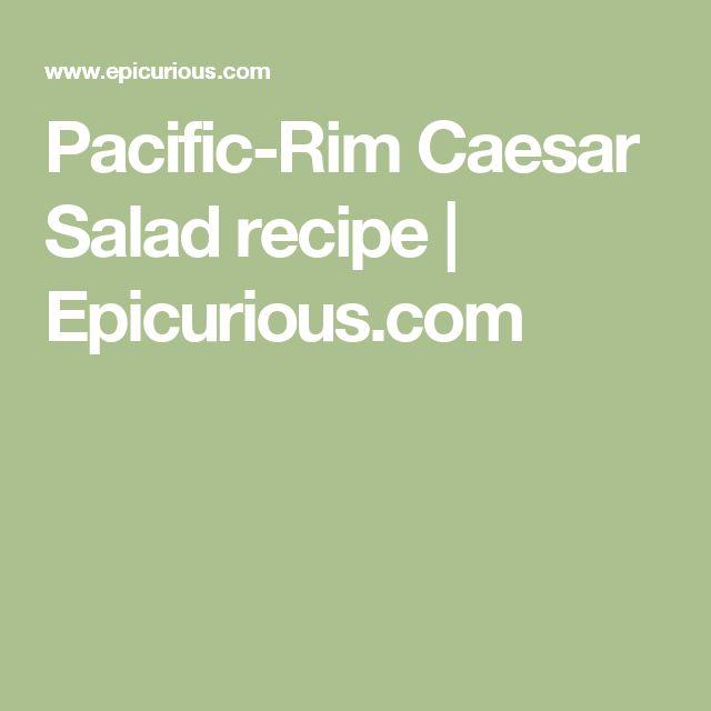 Pacific-Rim Caesar Salad recipe | Epicurious.com