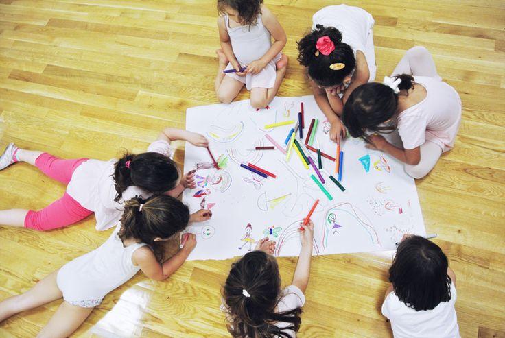 drawing what we learned in preschool ballet class! | kinoume studio | thessaloniki