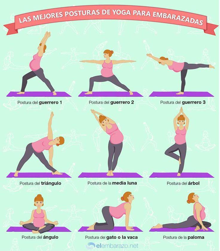 Infografía: Las mejores posturas de yoga para embarazadas