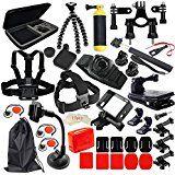 Christmas deals week  MCOCEAN GoPro Accessories Kit for Gopro Hero 4 / 3  / 3 / 2 / HD Cameras (22 Items) sale