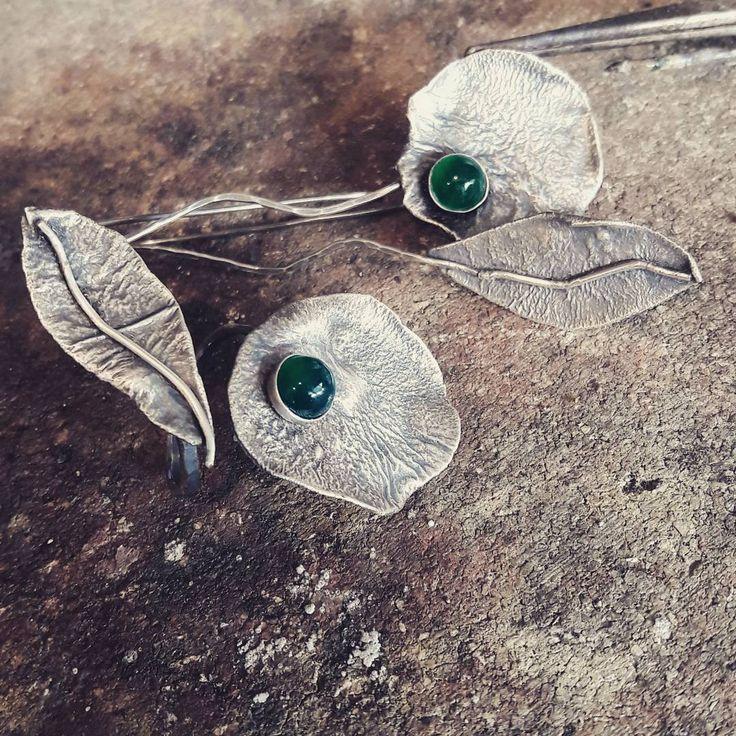 "34 Likes, 1 Comments - Cristina Masnitz (@cristinamasnitz) on Instagram: ""#semipreciousstones #specialorder #jewellry #silverring #silverearrings #green #greenonix…"""