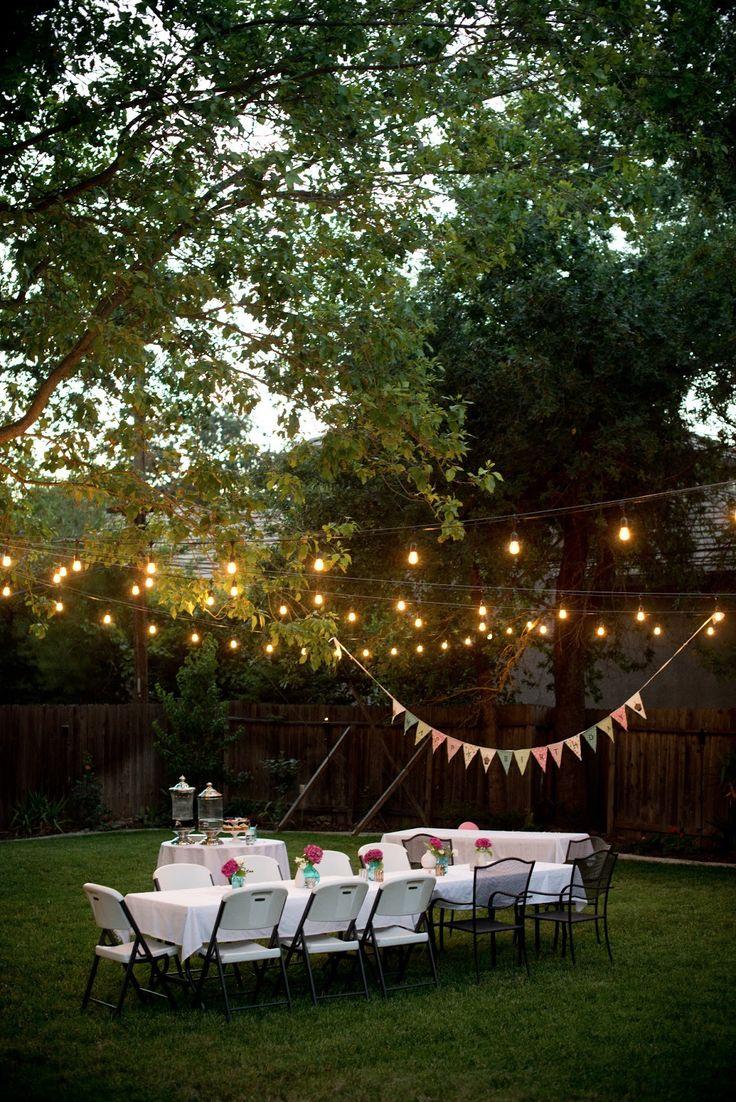 backyard party lighting diy projects pinterest backyard