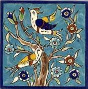 Handpainted Tile Birds - Armenian Pottery