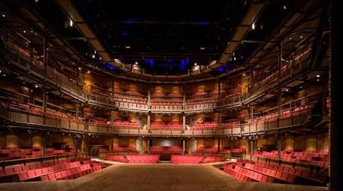 The Royal Shakespeare Theatre thrust stage in Stratford....England