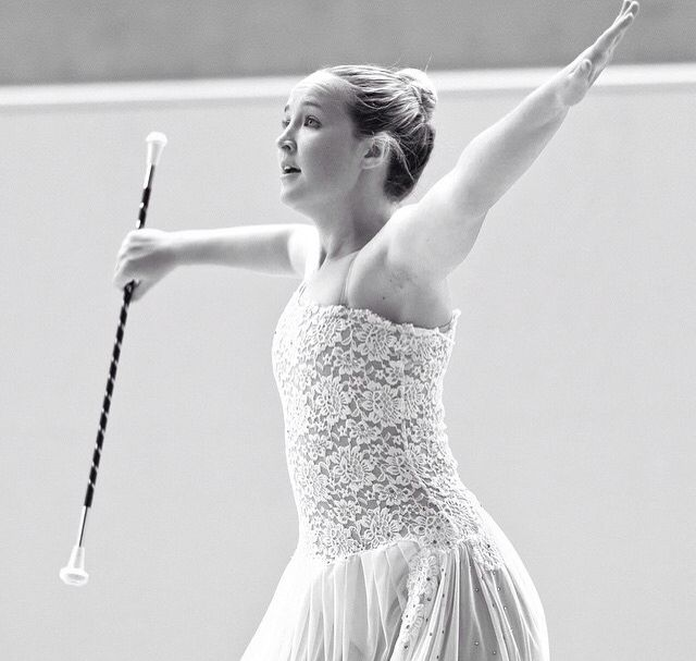 One of the favourite leotards. Love the shot too. #batontwirling