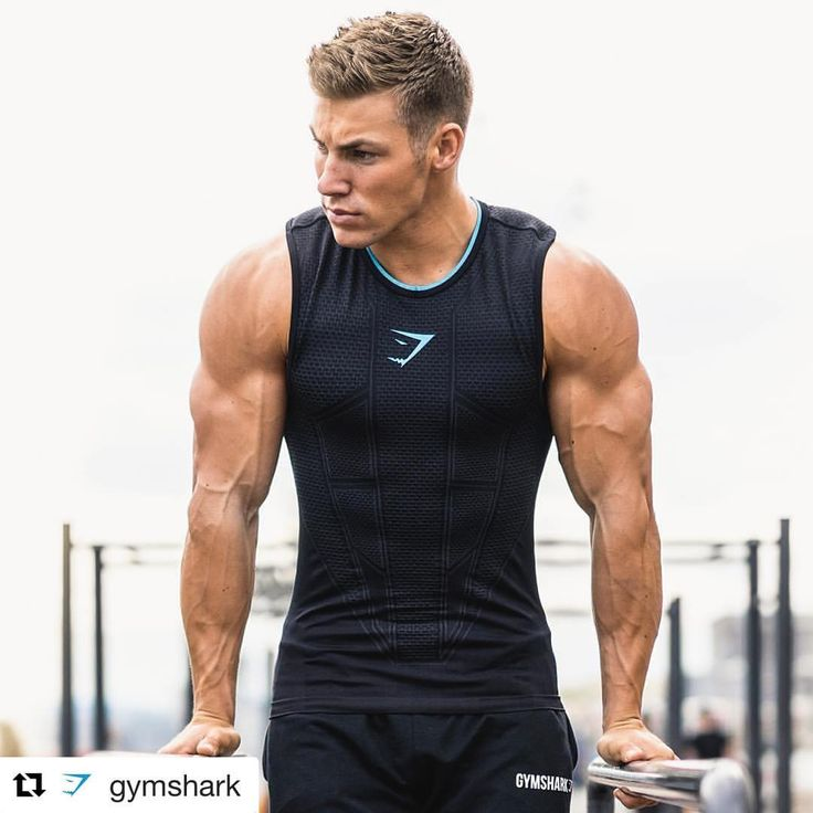 The arms… The shirt… The haircut… It is ALL good. #Repost @gymshark with @repostapp ・・・ It's all about control. @heede in the Gymshark Onyx tank. (Shop link in our bio) #Gymshark