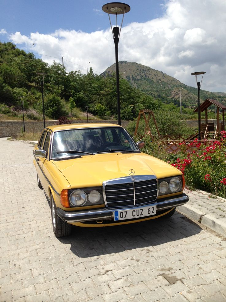 My yellow mercedes it 39 s name balkiz classic cars for Mercedes benz car names