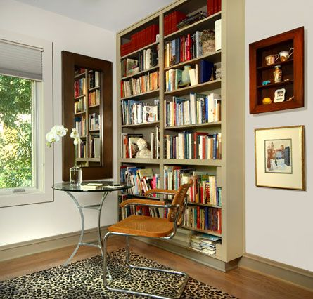 Nice reading nook by Austin interior design firm Mimi Rosenthal Design.