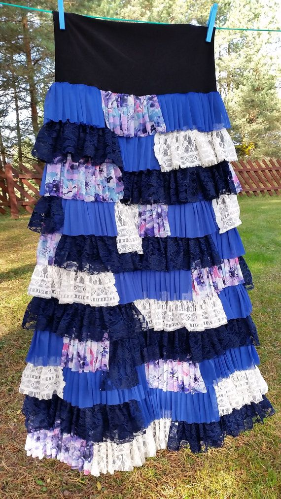 Gorgeous ruffled maxi skirt by Pink Poodle Skirts