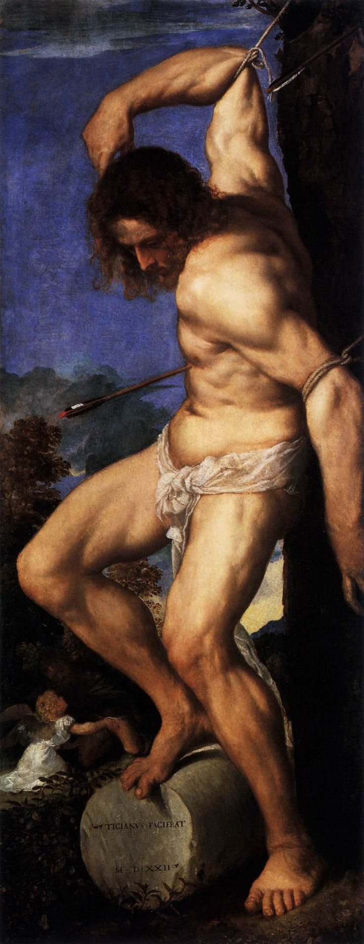 Polyptych of the Resurrection St Sebastian, 1520 Titian (Tiziano)