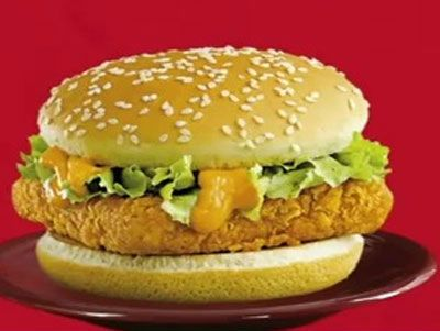 Paneer burger served with a herb mayonnaise dressing