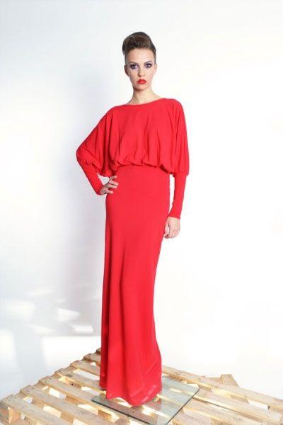 Elizabeth Maxi- długa, kimonowa suknia | Milita Nikonorov oficjalny butik projektantki