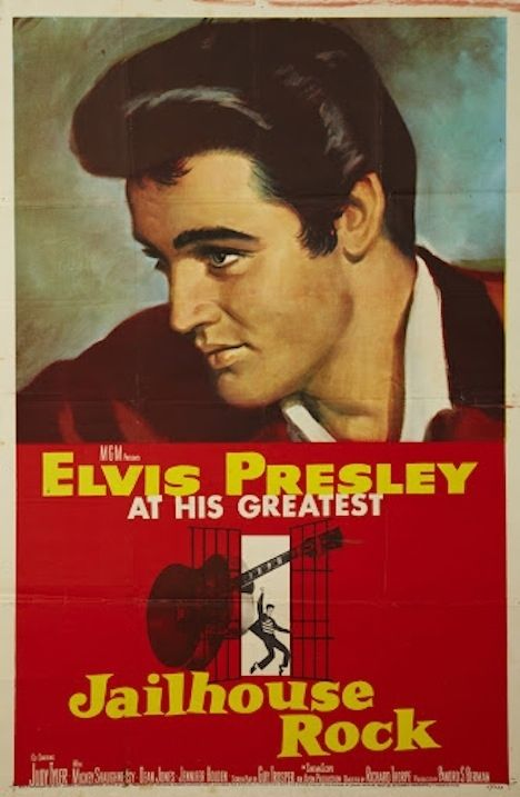 Jailhouse Rock - 1957 - Vince Everett is serving a one-year jail sentence for manslaughter. While in the big house, his cellmate, a former country singer, introduces him to the record business. Everett takes to it so well that he decides to become a singer when he gets out.