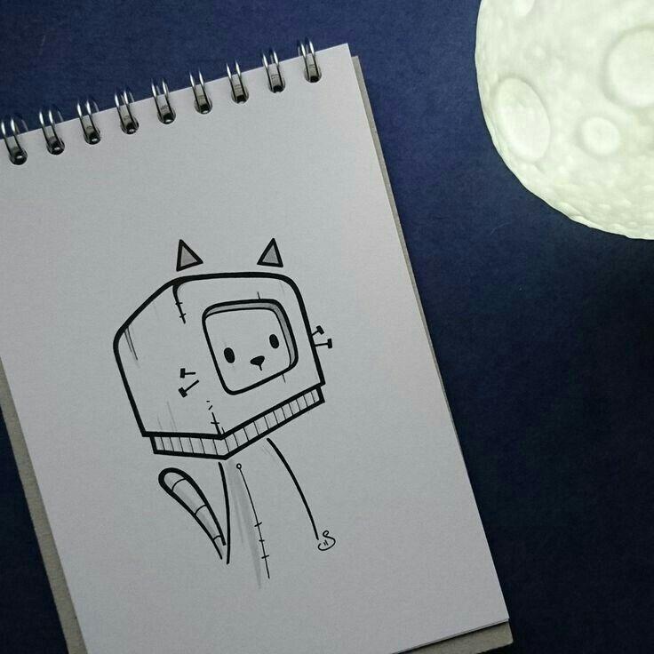 маленькие милые рисунки карандашом в скетчбуке сюжете телеканала
