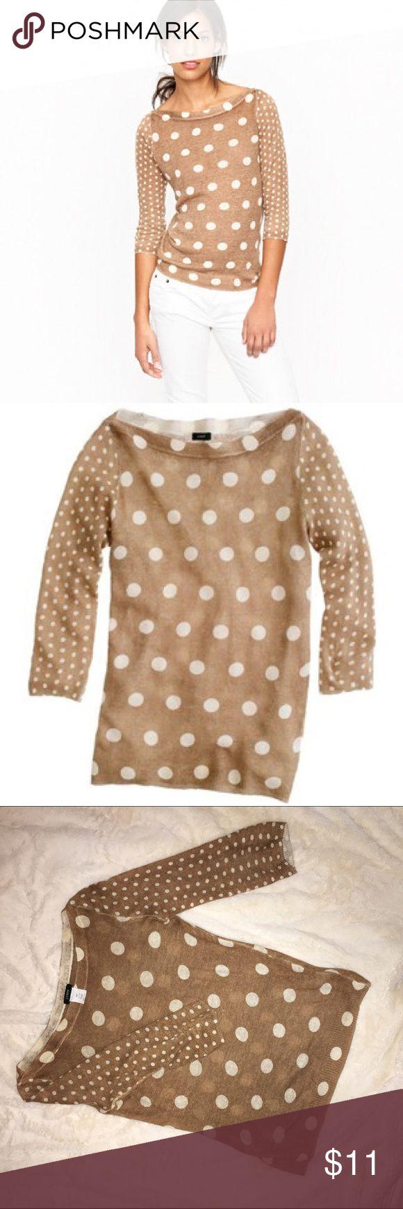 JCrew - fine knit poka dot sweater Worn twice. No stains tears etc. J. Crew Sweaters Crew & Scoop Necks
