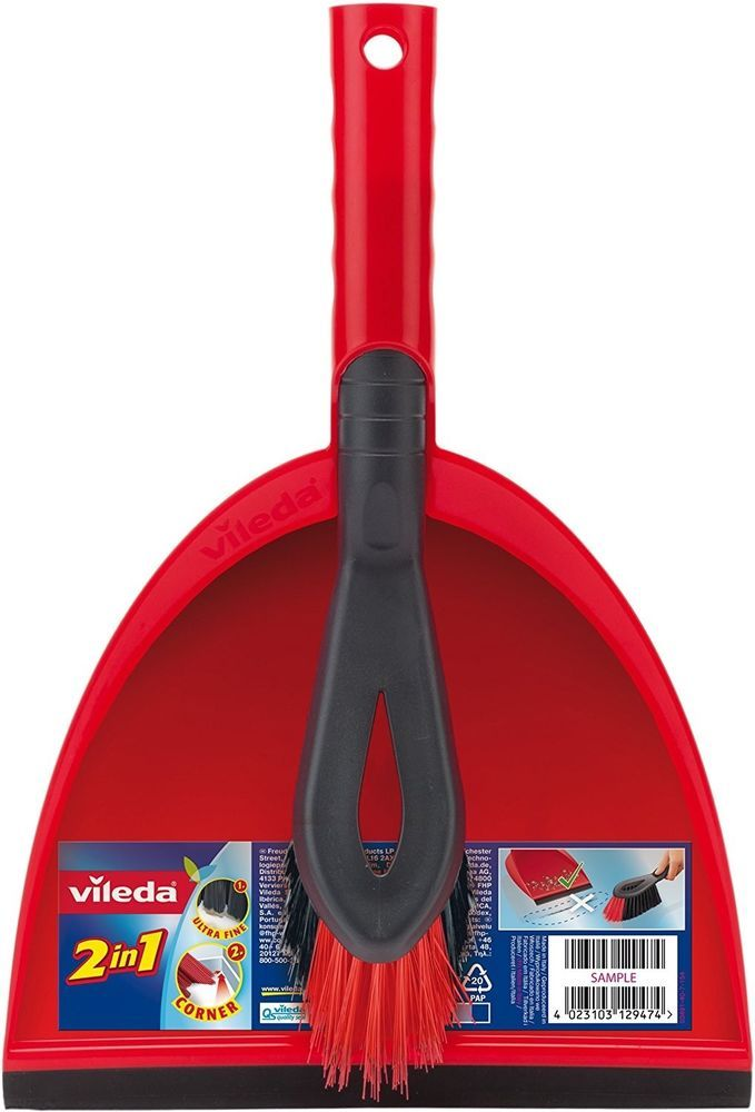 Dustpan And Brush Set Ergonomically Cleaning Household Tools Floor Sweeping Red