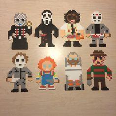 horror movie perler beads on Pinterest | Perler Beads, Freddy Krueger ...