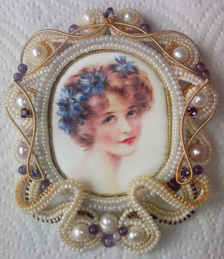 """Брошь """"Викторианский стиль""""   biser.info - всё о бисере и бисерном творчестве"""